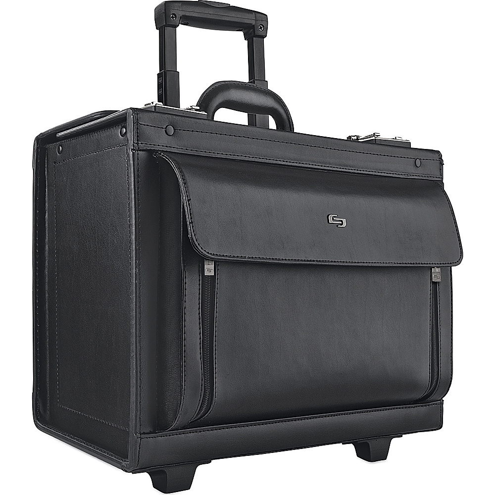 SOLO Leather Rolling Computer Catalog Case Black