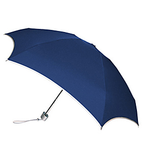 Wedgy ''Fits Anywhere'' Mini Umbrella - Solid Colors Navy/Silver