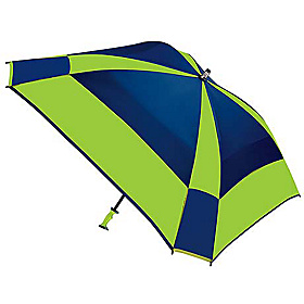 WindPro Gellas Auto Open Vented Square Golf Umbrella - Alternating Panels Navy/Lime