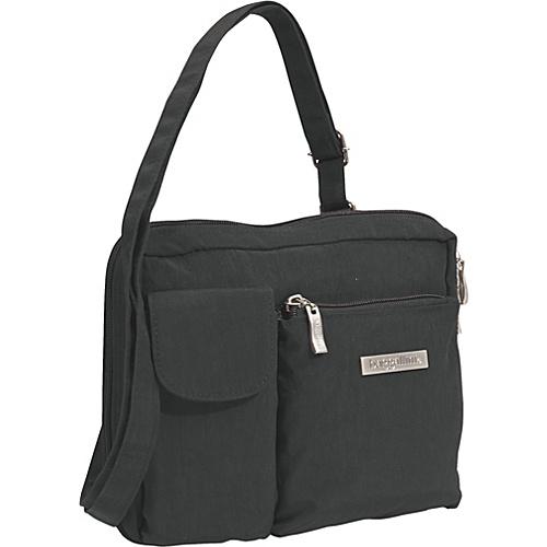 baggallini Wallet Bagg Large Crinkle Nylon - Black