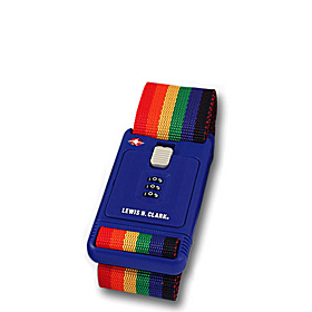 TSA Friendly Locking Travel Belt Rainbow