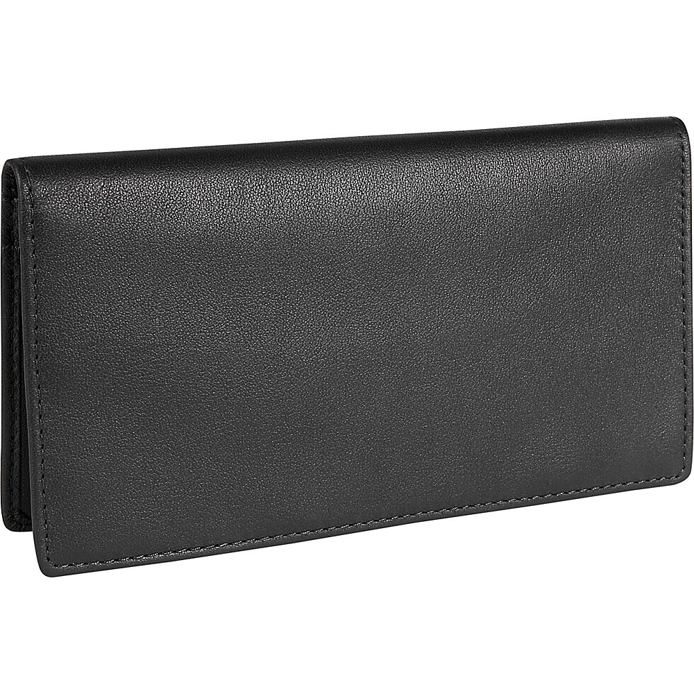 Royce Leather Checkbook & Secretary - Black - Work Bags & Briefcases, Men's Wallets