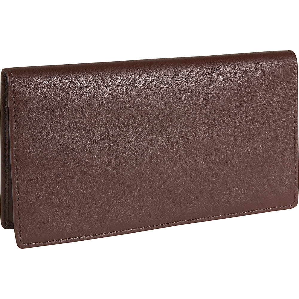 Royce Leather Checkbook & Secretary - Coco - Work Bags & Briefcases, Men's Wallets