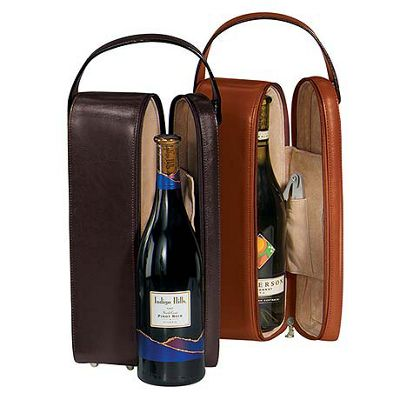 Royce Leather Single Wine Presentation Case - Black