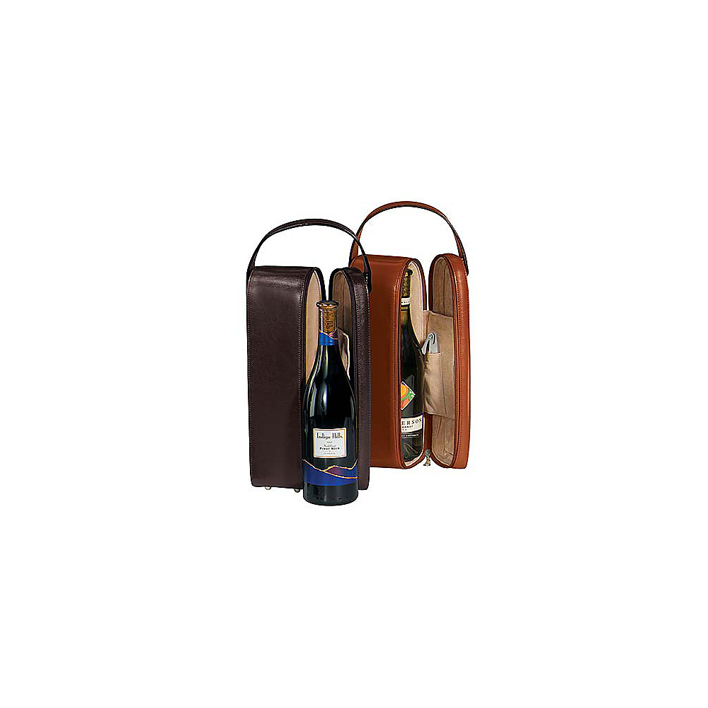 Royce Leather Single Wine Presentation Case - Black - Outdoor, Outdoor Accessories