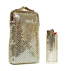 Classic Cigarette Case And Lighter Case Silver