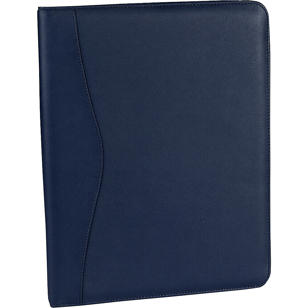 Royce Leather Deluxe Writing Padfolio - Blue - Work Bags & Briefcases, Business Accessories