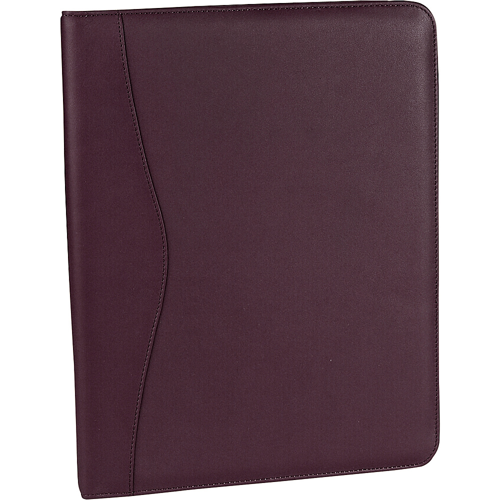 Royce Leather Deluxe Writing Padfolio - Burgundy - Work Bags & Briefcases, Business Accessories