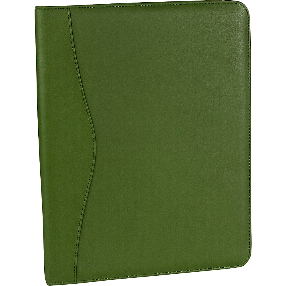 Royce Leather Deluxe Writing Padfolio - Green - Work Bags & Briefcases, Business Accessories