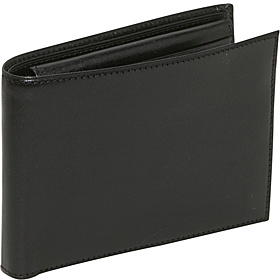 Old Leather Credit Wallet w/ID Passcase Black