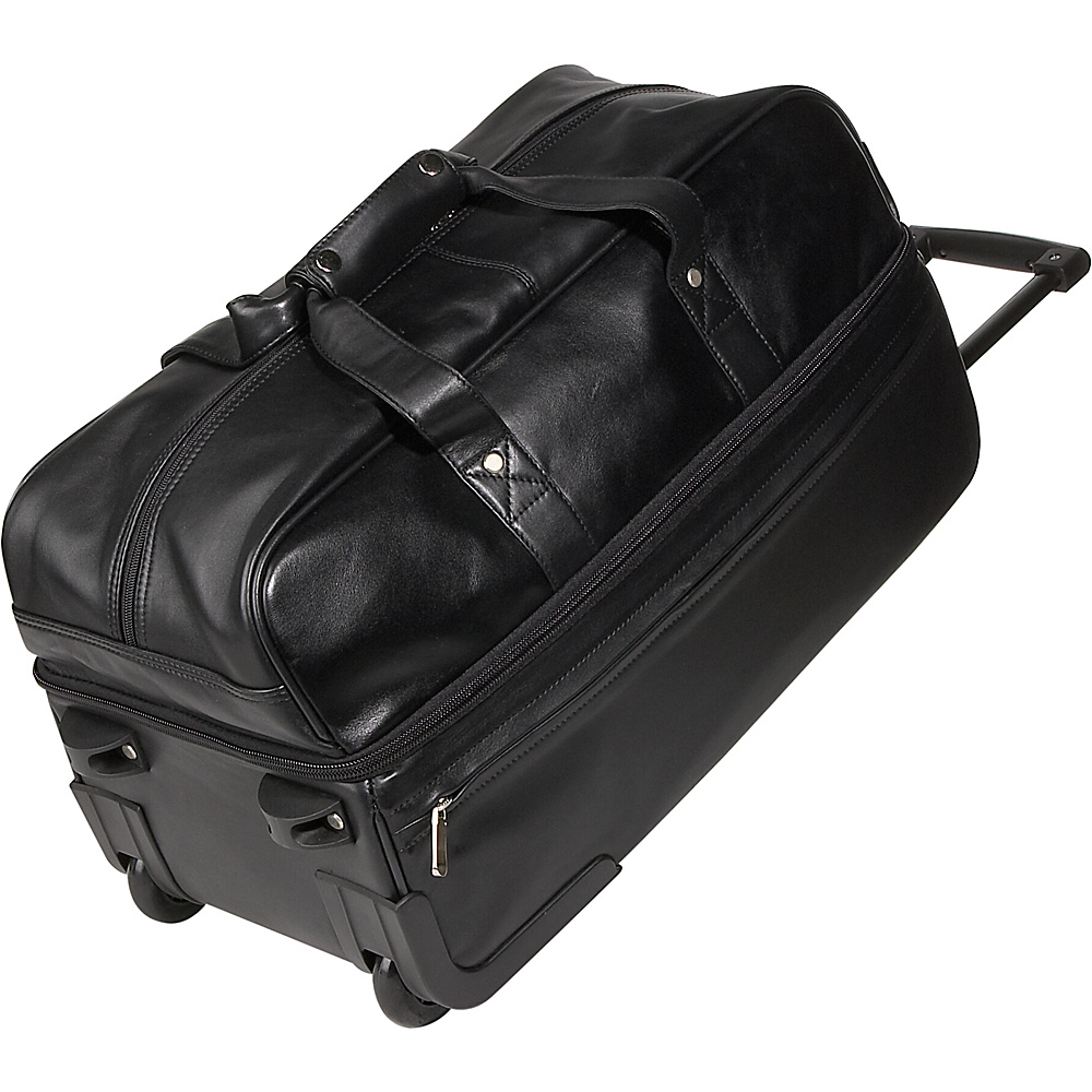Royce Leather Trolley Duffel - Black - Luggage, Softside Checked