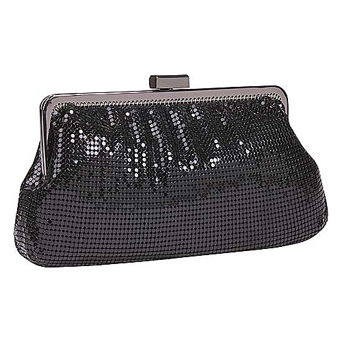 Whiting and Davis Metal Mesh Shirred Frame Clutch