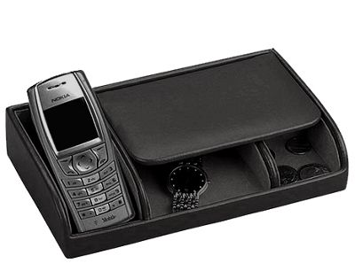 Budd Leather Leather Small Dresser Valet - Black