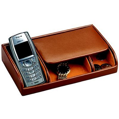 Budd Leather Leather Small Dresser Valet - Brown