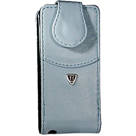 iPod Nano Flip Style Leather PDA Case (No Clip) Light Blue