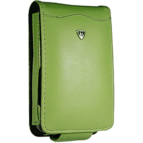 iPod Video 30 / 60GB Flip Style Leather PDA Case (Swivel Clip) Coral Green
