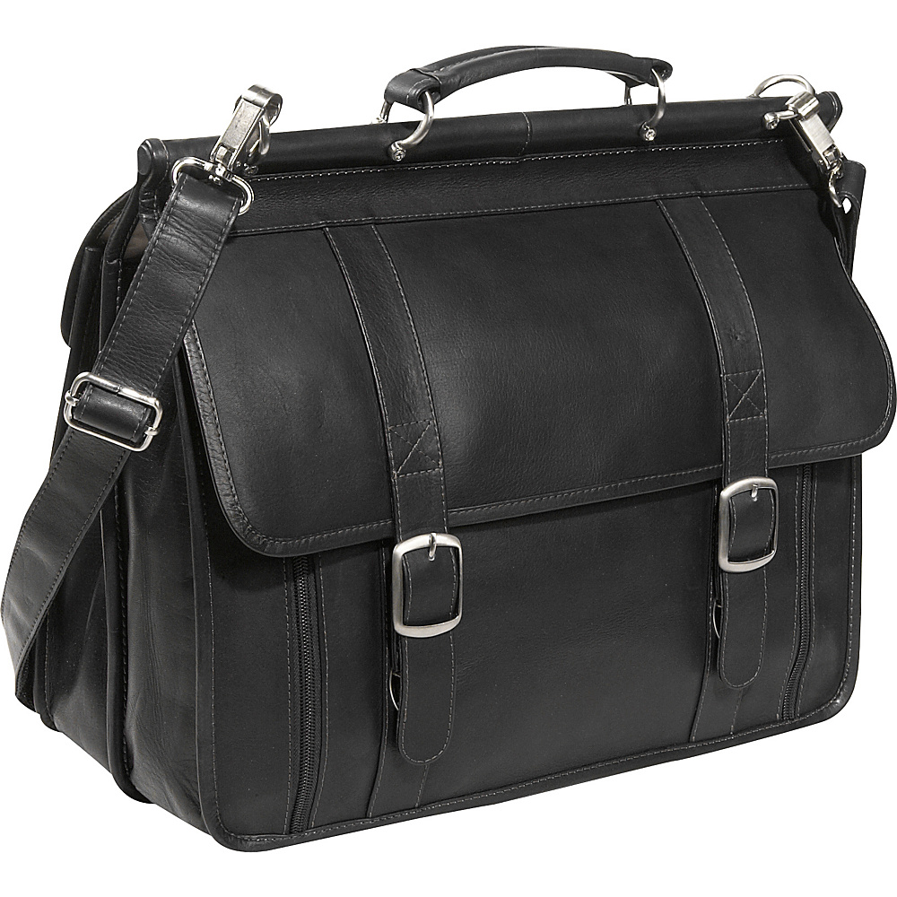 Piel European Laptop Briefcase - Black - Work Bags & Briefcases, Non-Wheeled Business Cases