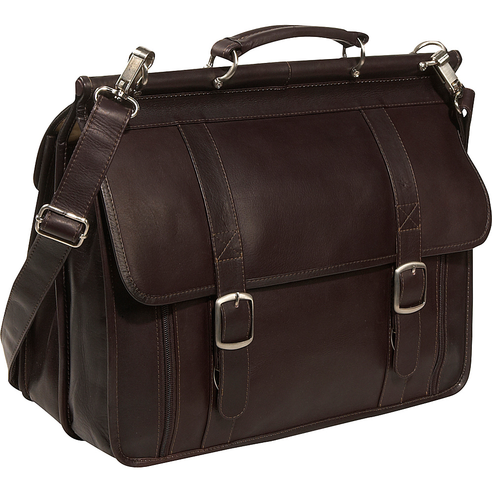 Piel European Laptop Briefcase - Chocolate - Work Bags & Briefcases, Non-Wheeled Business Cases