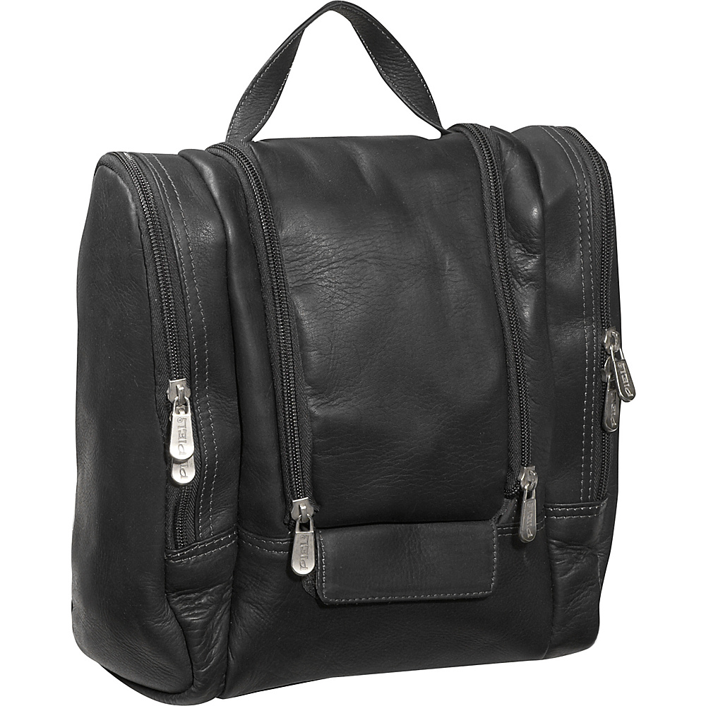 Piel Hanging Travel Toiletry Kit - Black - Travel Accessories, Toiletry Kits