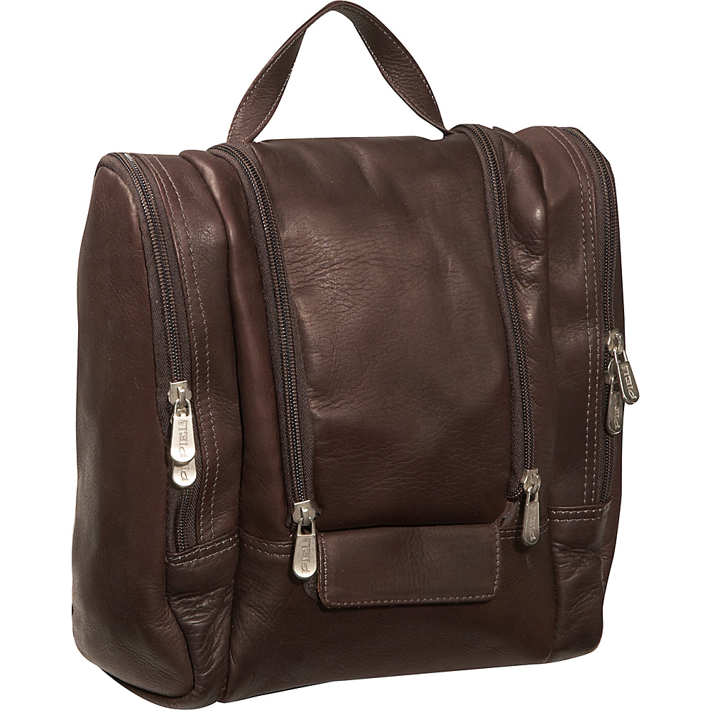 Piel Hanging Travel Toiletry Kit - Chocolate - Travel Accessories, Toiletry Kits