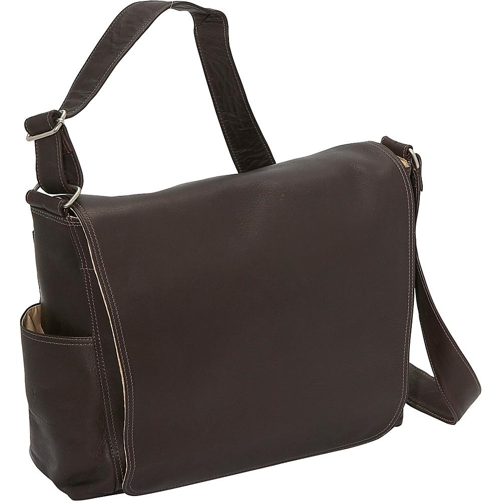 Piel Urban Messenger Brief - Chocolate - Work Bags & Briefcases, Messenger Bags