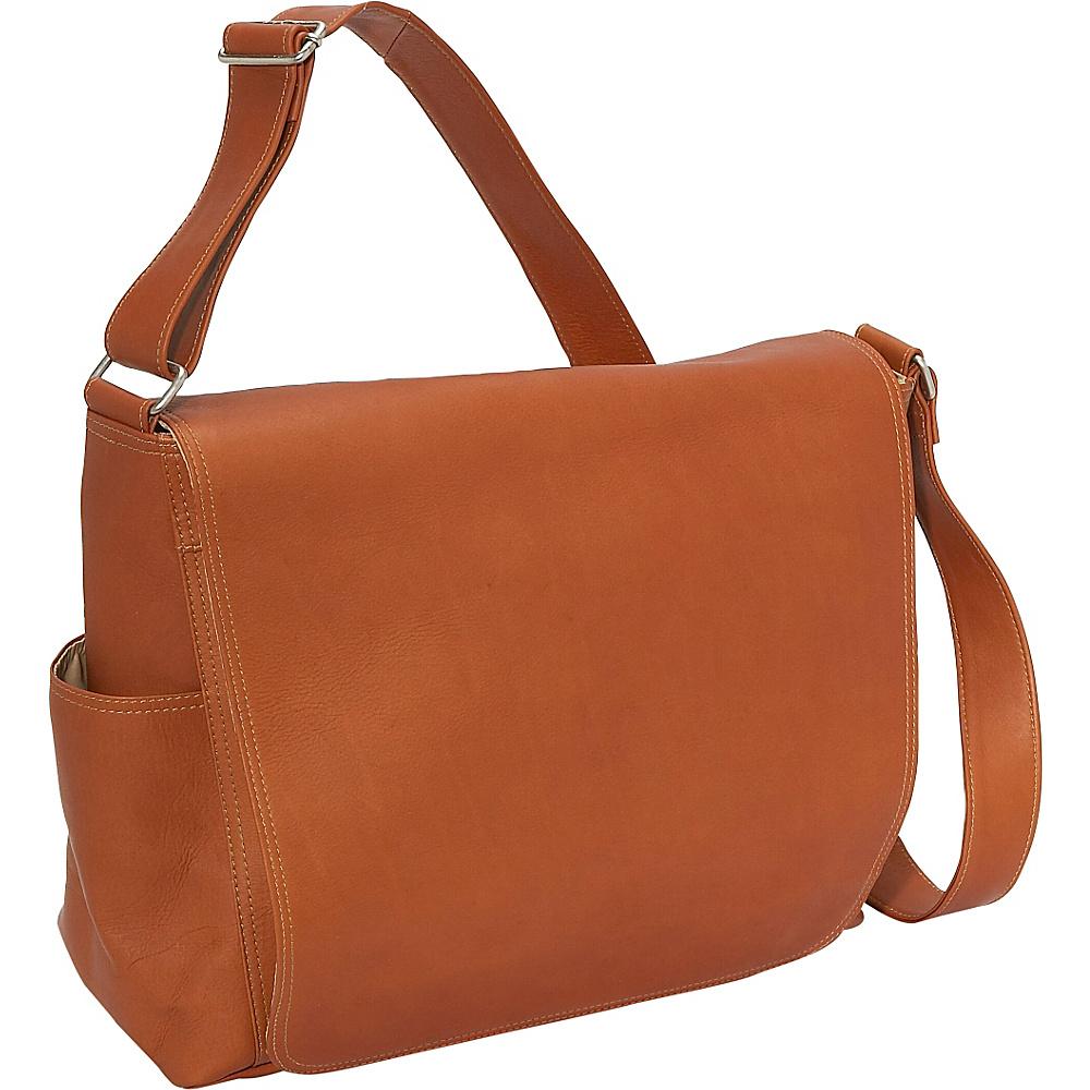 Piel Urban Messenger Brief - Saddle - Work Bags & Briefcases, Messenger Bags
