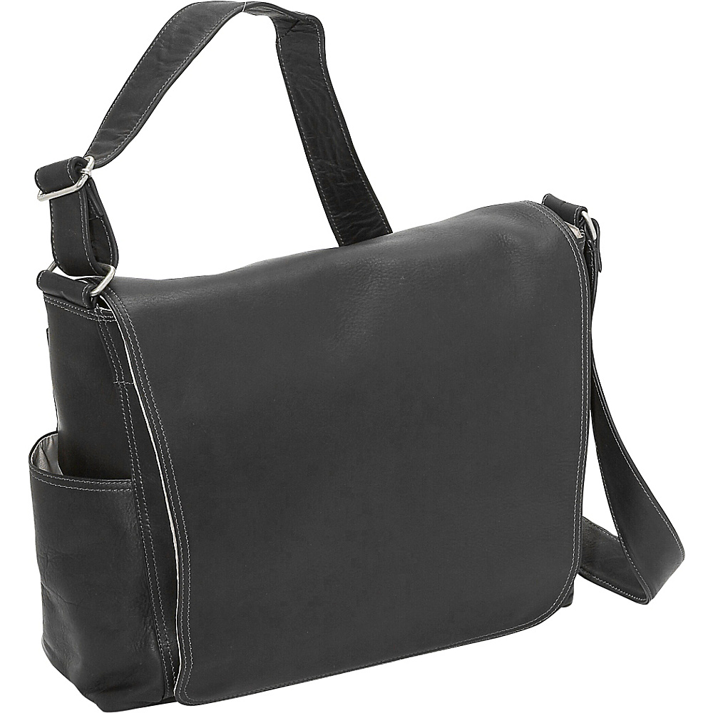 Piel Urban Messenger Brief - Black - Work Bags & Briefcases, Messenger Bags