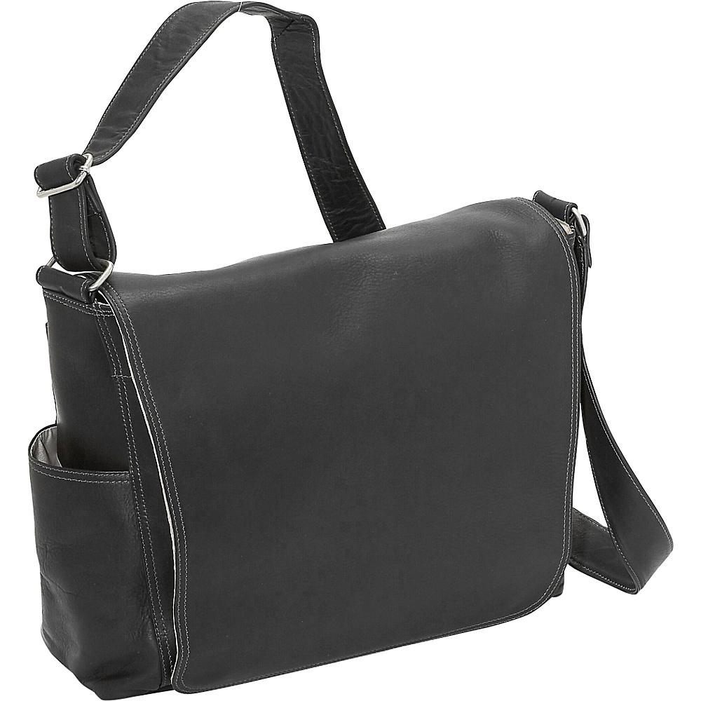 Piel Urban Messenger Brief - Black - Work Bags & Briefcases, Messenger Bags