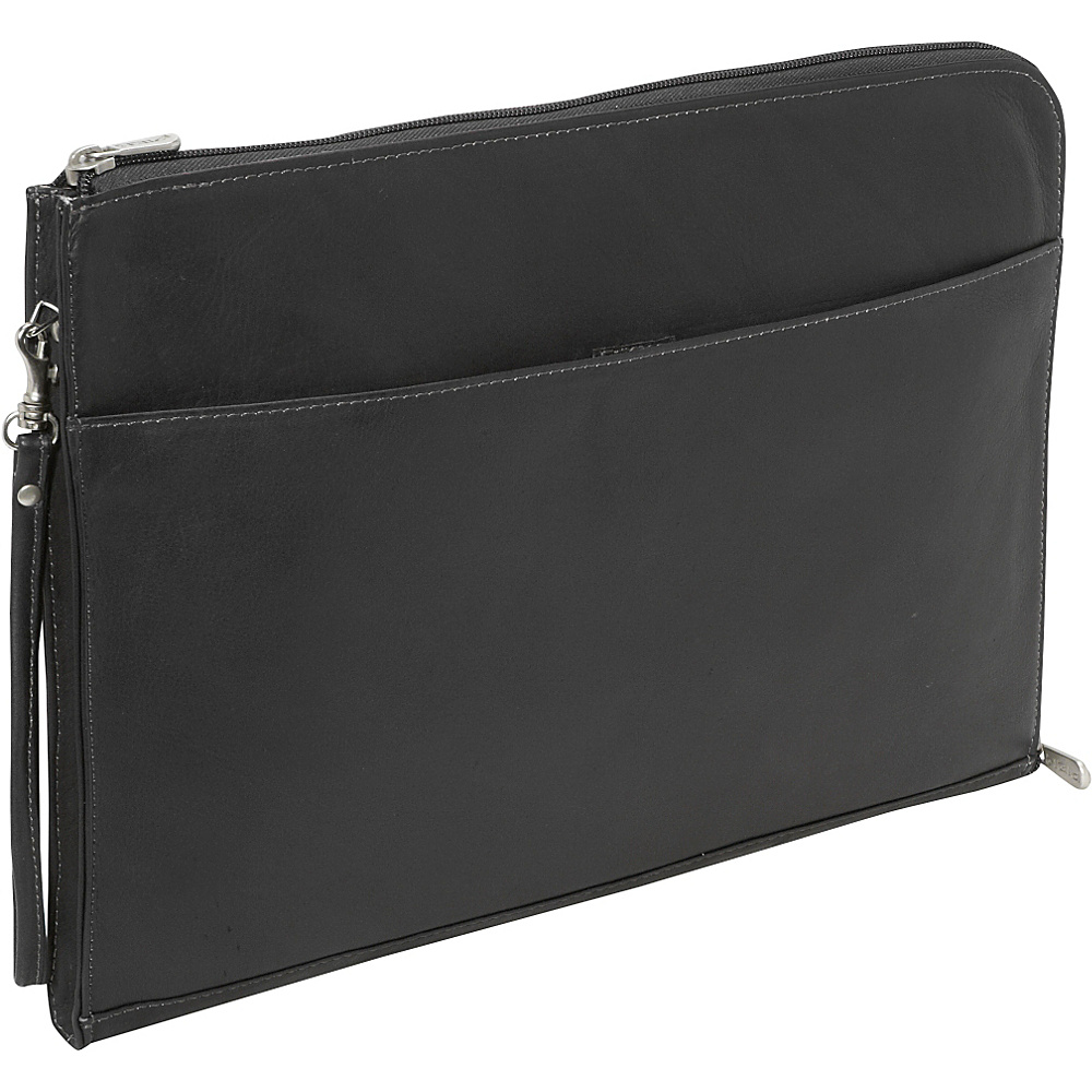 Piel Zip Around Envelope - Black - Work Bags & Briefcases, Business Accessories