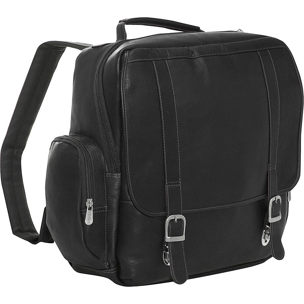 Piel Vertical Leather Laptop Backpack - Black - Backpacks, Business & Laptop Backpacks