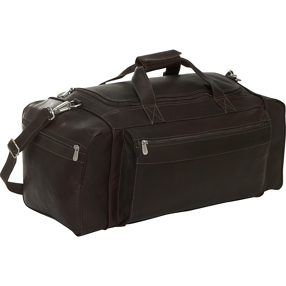 Piel Large Duffel Bag - Chocolate - Duffels, Travel Duffels
