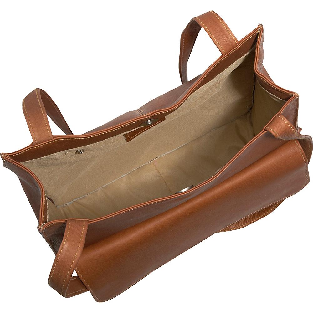 Piel Shoulder Tote Organzier Chocolate - Piel Leather Handbags