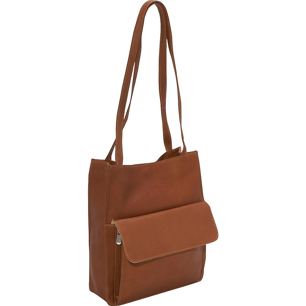 Piel Shoulder Tote Organzier - Saddle - Handbags, Leather Handbags