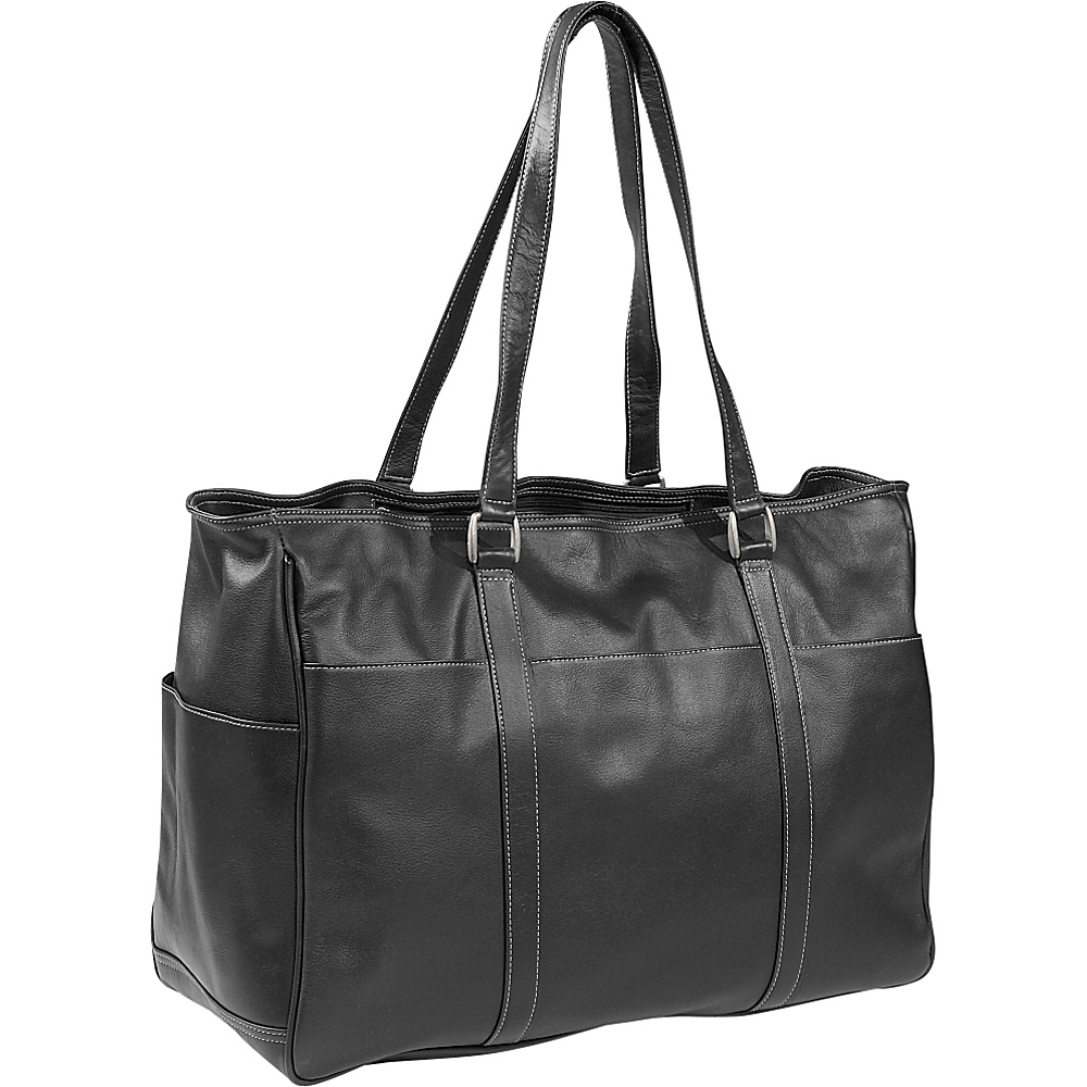 Piel Womens Large Business Tote - Black - Work Bags & Briefcases, Women's Business Bags