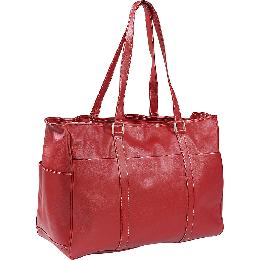 Piel Womens Large Business Tote - Red - Work Bags & Briefcases, Women's Business Bags