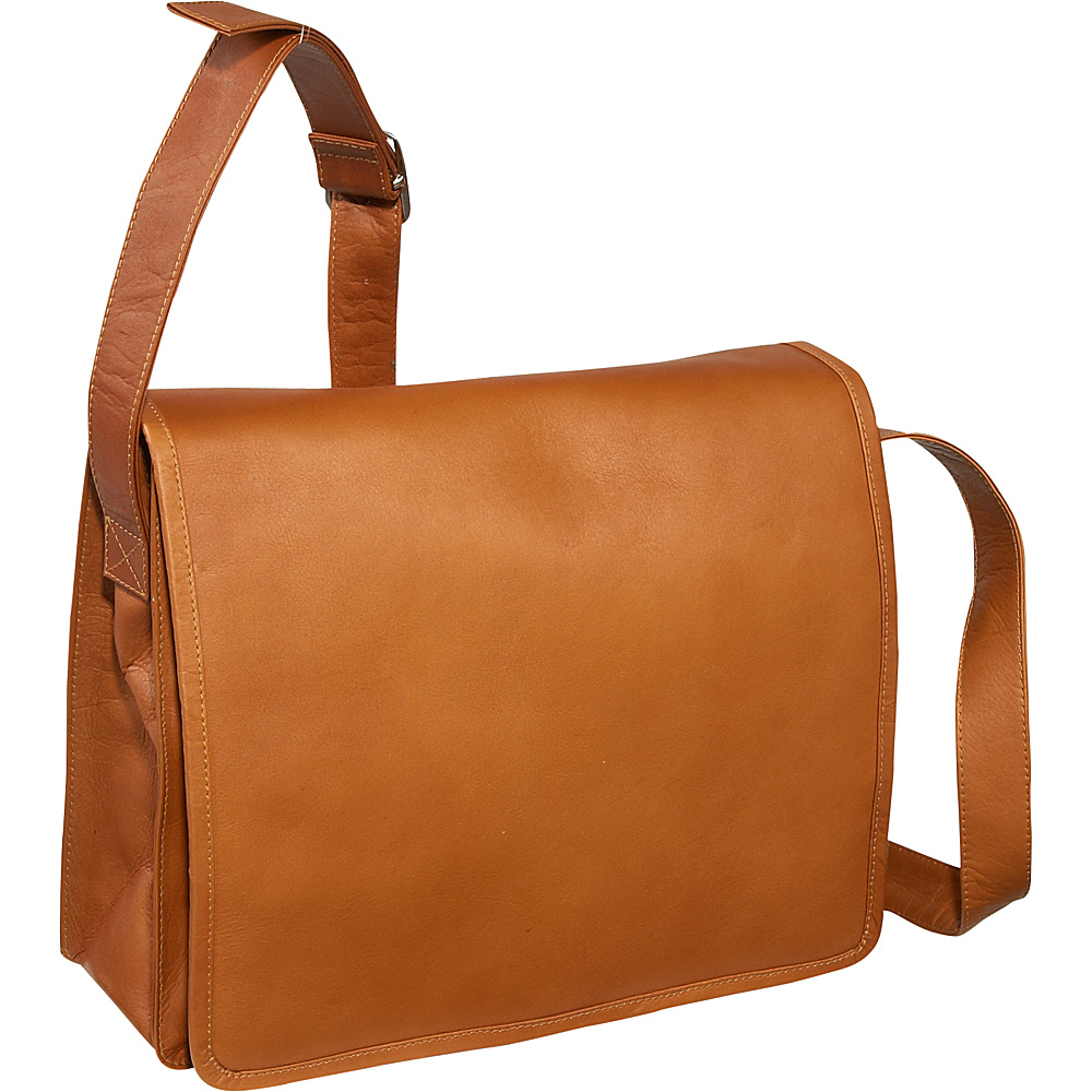 Piel Large Handbag with Organizer - Saddle - Handbags, Leather Handbags