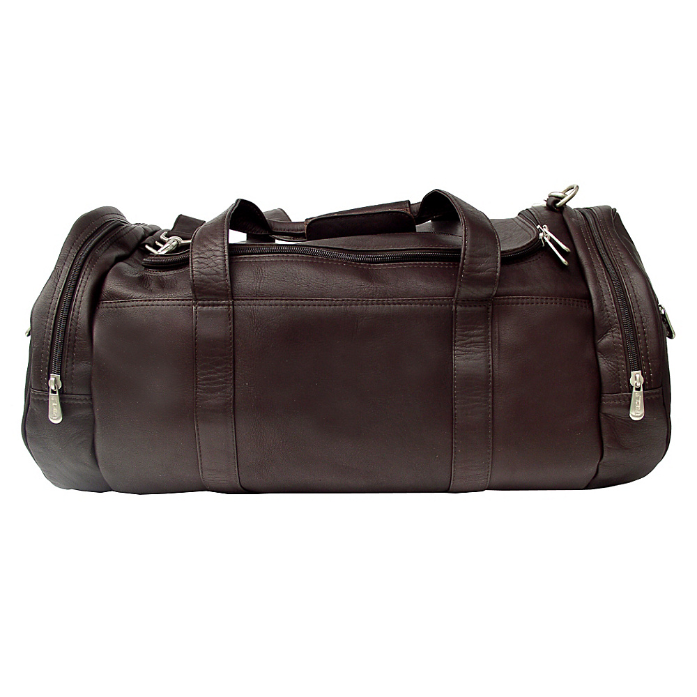 Piel Gym Bag - 23in - Chocolate - Luggage, Luggage Totes and Satchels