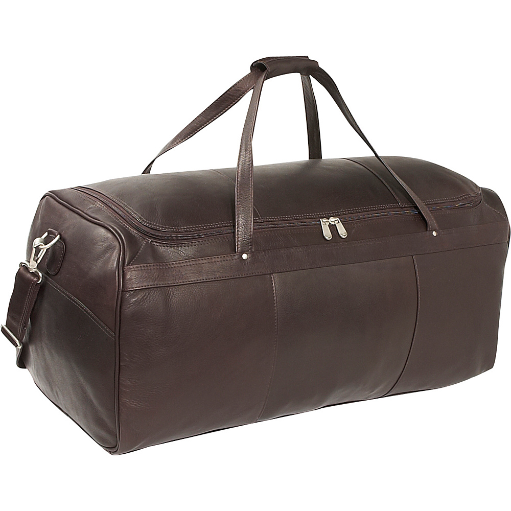 Piel Travelers Select Large Duffel Bag - Chocolate - Duffels, Travel Duffels