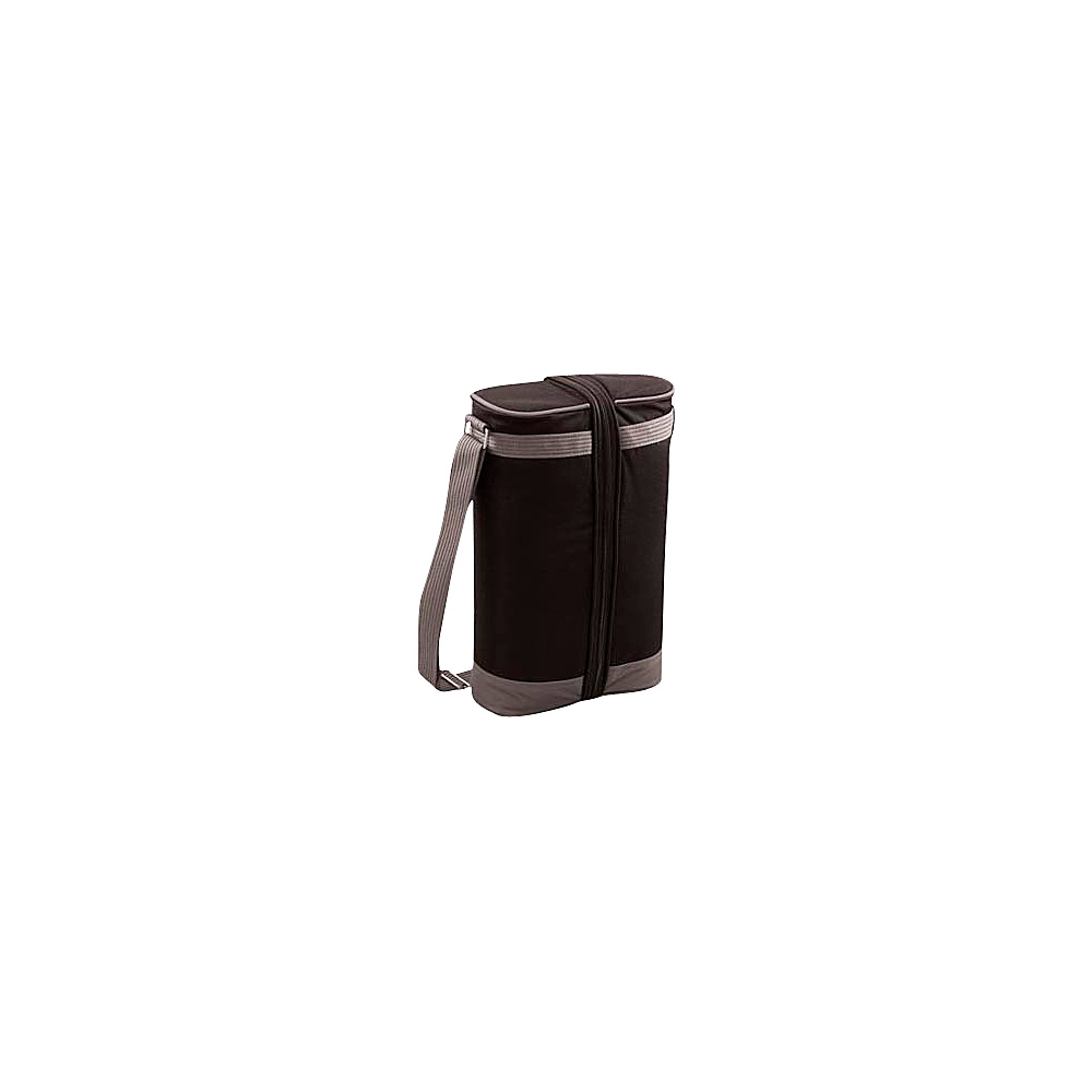 Picnic Time Estate Deluxe Wine Tote Black Gray