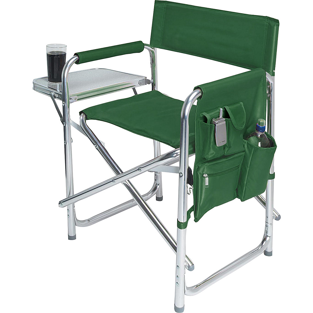 Picnic Time Sports Chair Hunter green lining