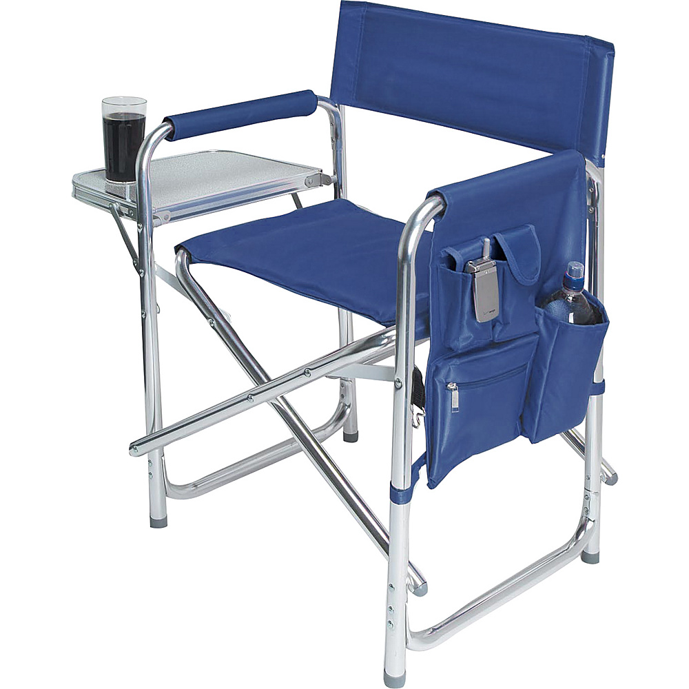 Picnic Time Sports Chair Navy Blue