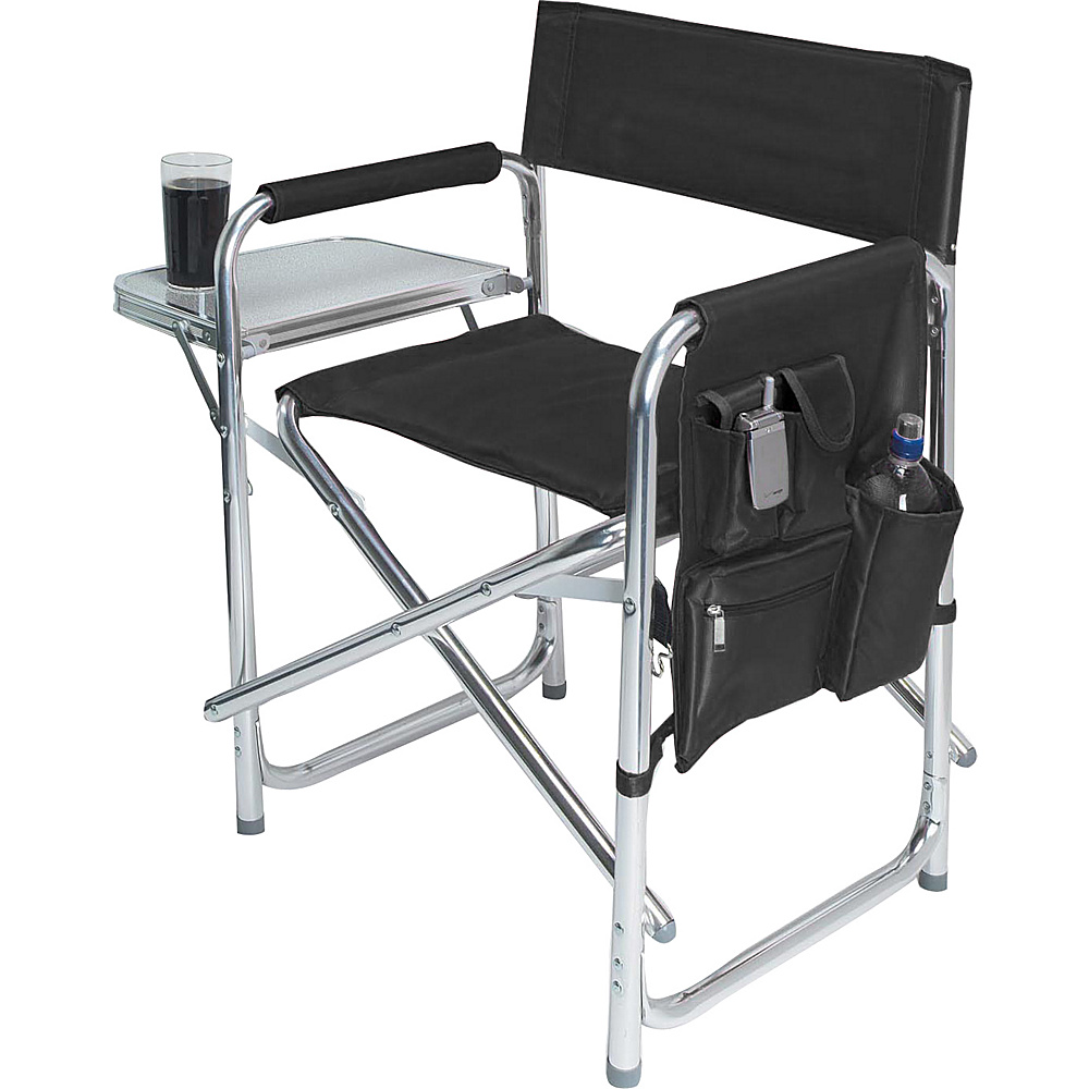 Picnic Time Sports Chair Black