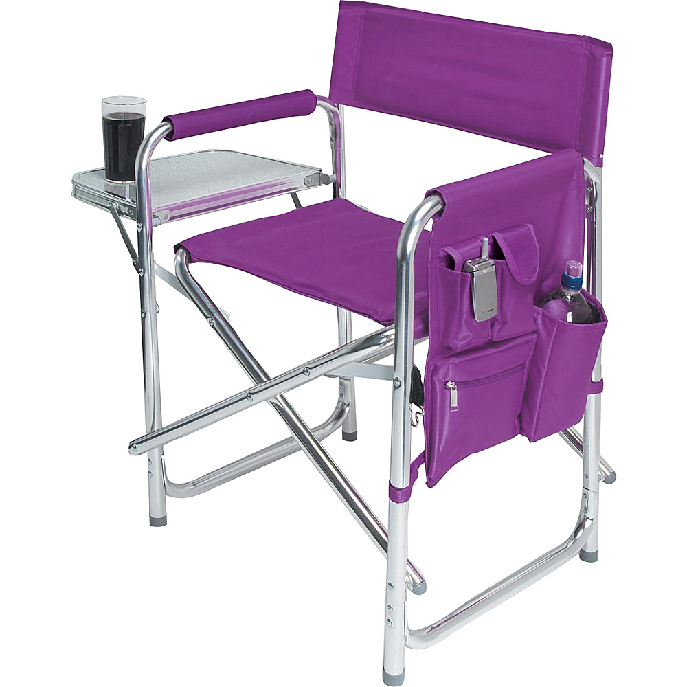 Picnic Time Sports Chair Purple