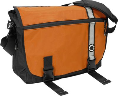DadGear Messenger Diaper Bag Retro Retro Stripe Orange - DadGear Diaper Bags & Accessories