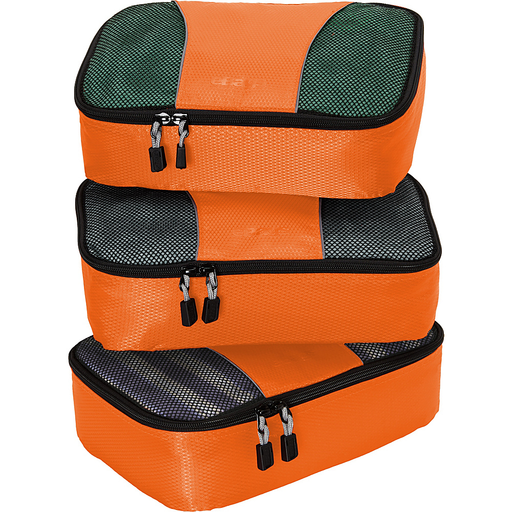 eBags Small Packing Cubes - 3pc Set - Tangerine - Travel Accessories, Travel Organizers