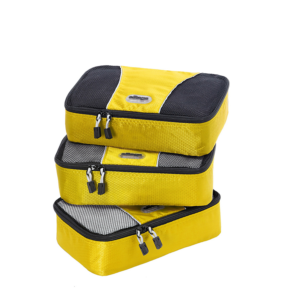 eBags Small Packing Cubes 3pc Set Canary