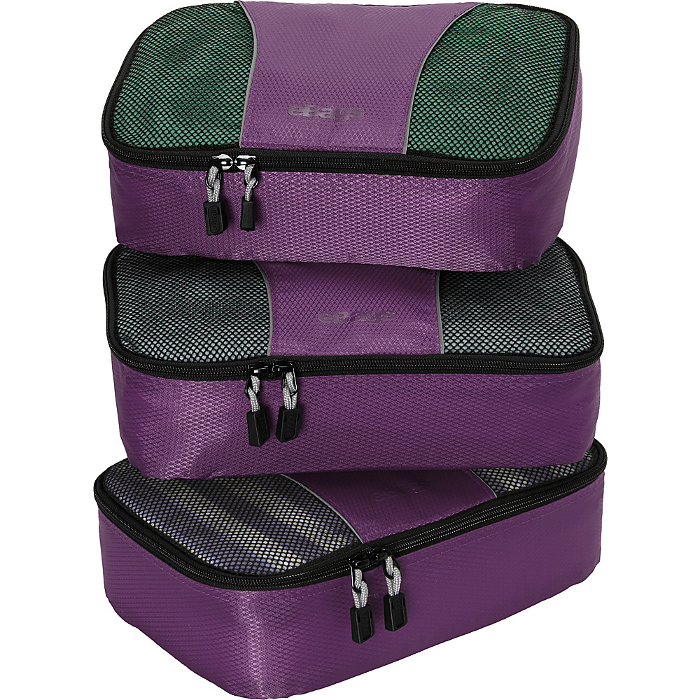 eBags Small Packing Cubes - 3pc Set - Eggplant - Travel Accessories, Travel Organizers