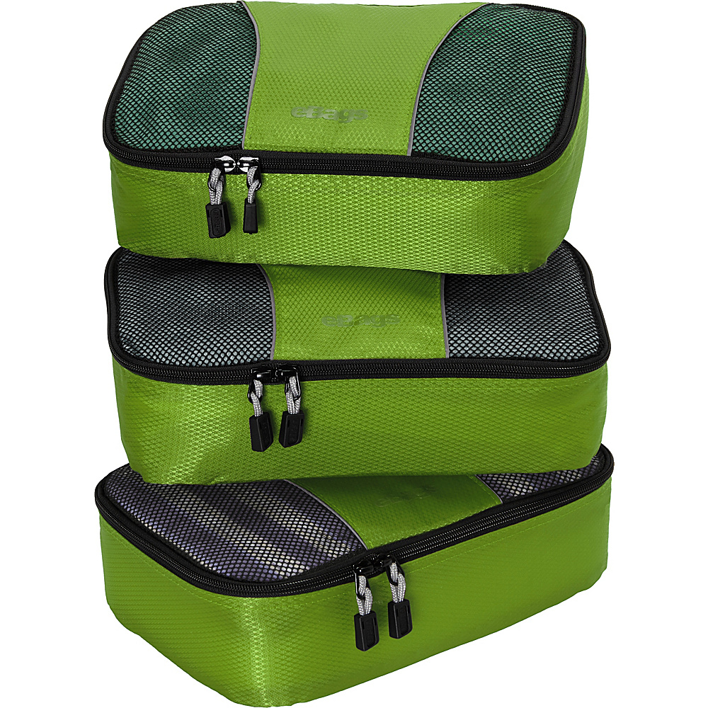 eBags Small Packing Cubes - 3pc Set - Grasshopper - Travel Accessories, Travel Organizers