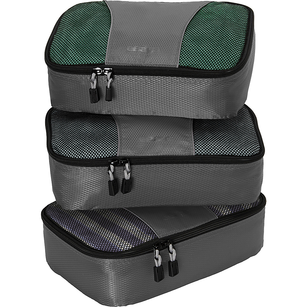 eBags Small Packing Cubes - 3pc Set - Titanium - Travel Accessories, Travel Organizers