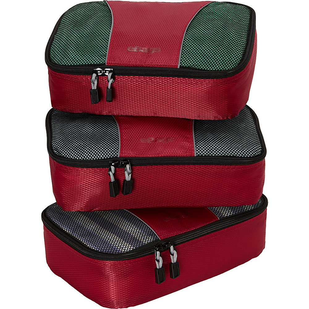eBags Small Packing Cubes - 3pc Set - Raspberry - Travel Accessories, Travel Organizers